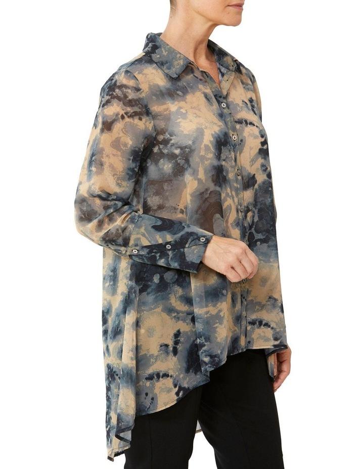 Tie Dye Print Tunic Blouse image 2