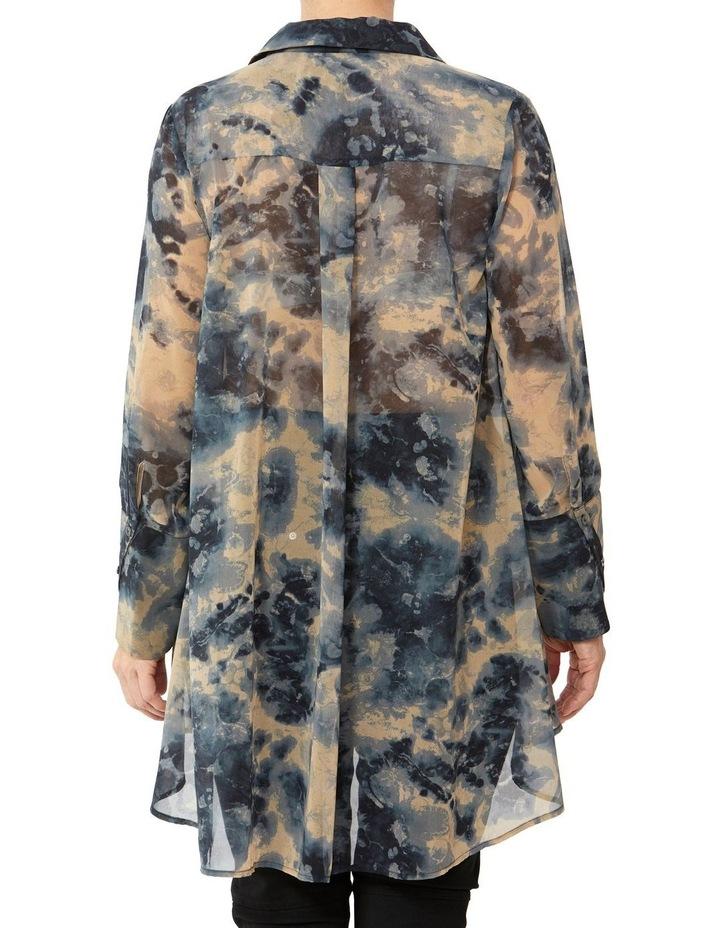 Tie Dye Print Tunic Blouse image 3