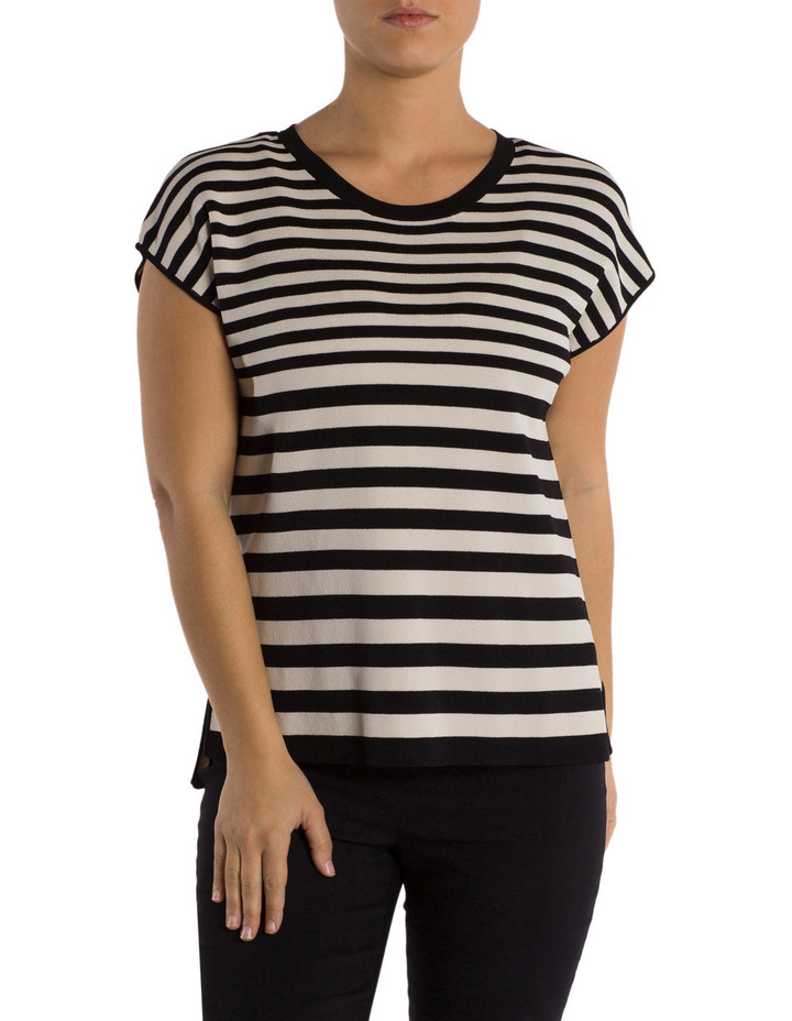 Drop Shoulder Stripe Pullover image 1
