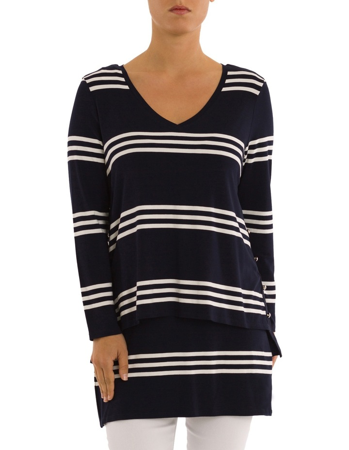 Double Layer Stripe Tunic Top image 1