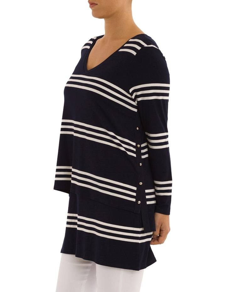 Double Layer Stripe Tunic Top image 2