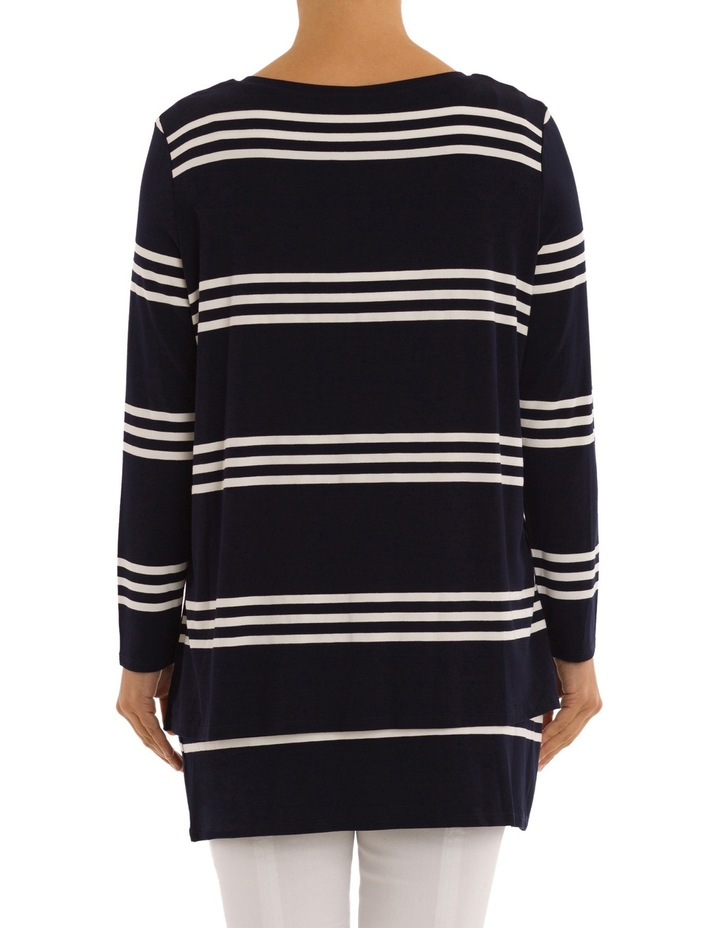 Double Layer Stripe Tunic Top image 3