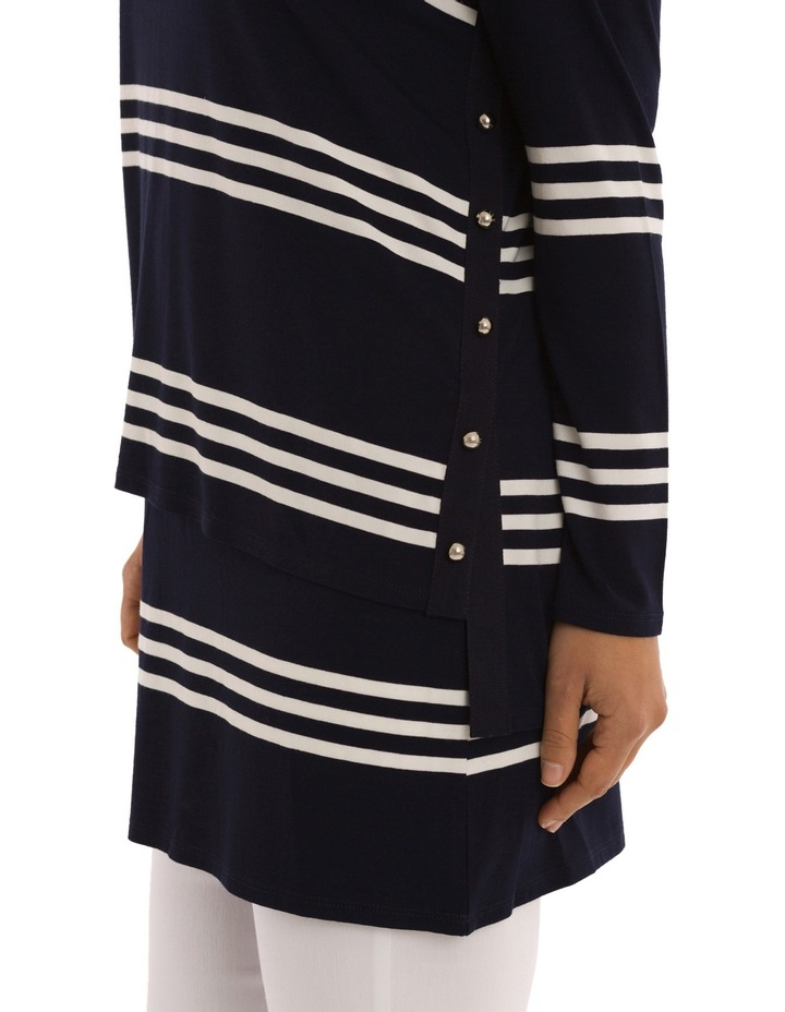 Double Layer Stripe Tunic Top image 4