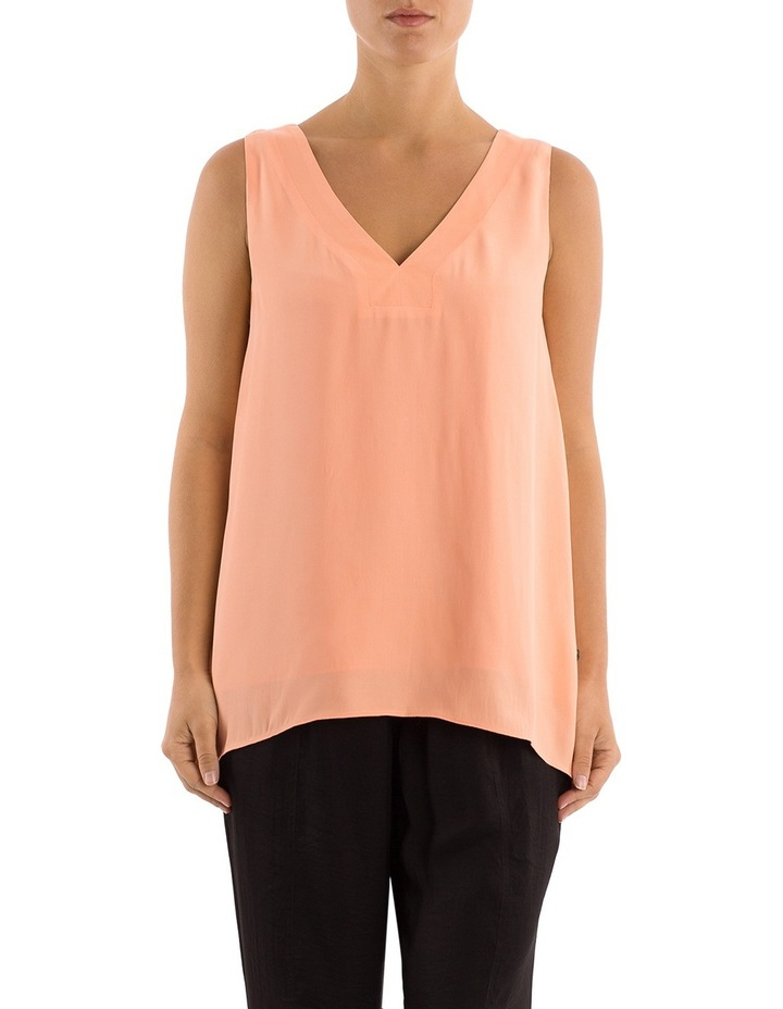 Sleeveless V-Neck Split Back Top image 1