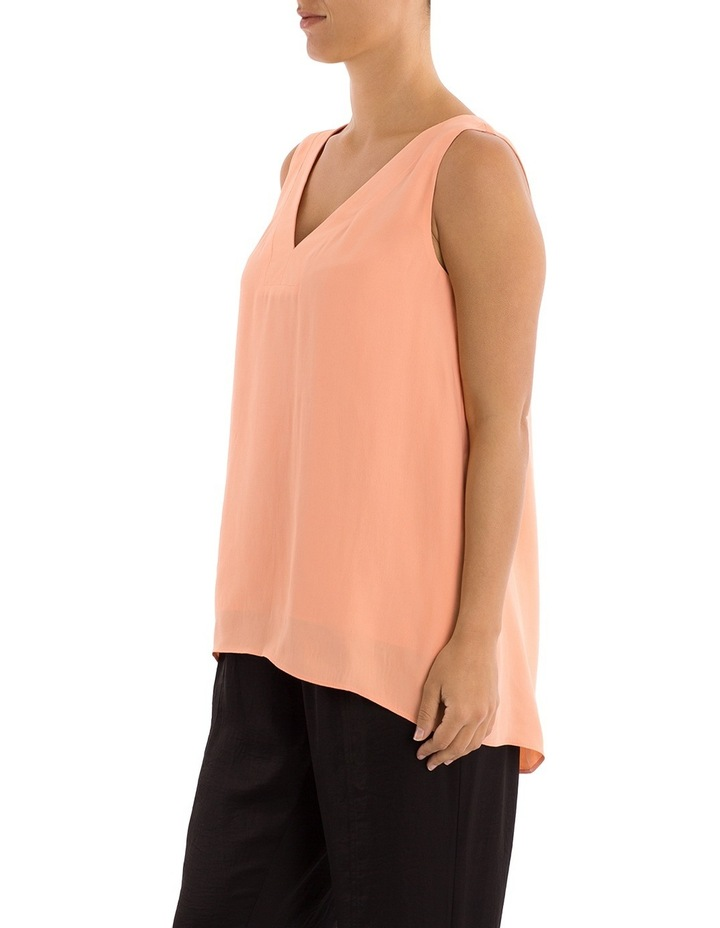 Sleeveless V-Neck Split Back Top image 2