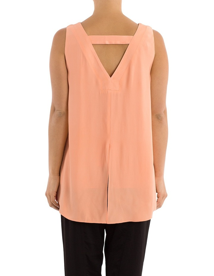 Sleeveless V-Neck Split Back Top image 3