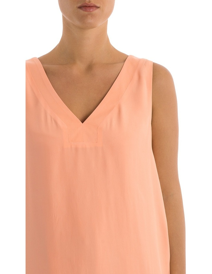 Sleeveless V-Neck Split Back Top image 4