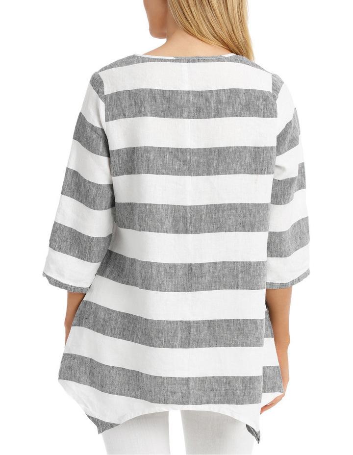 3/4 Sleeve Block Stripe Swing Top image 3