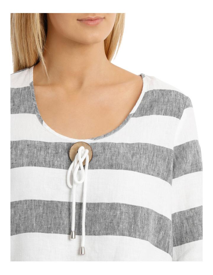 3/4 Sleeve Block Stripe Swing Top image 4