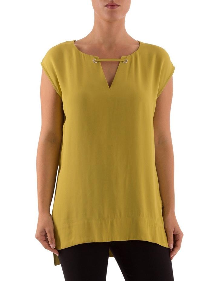 Drop Shoulder V-Neck Long Top image 1