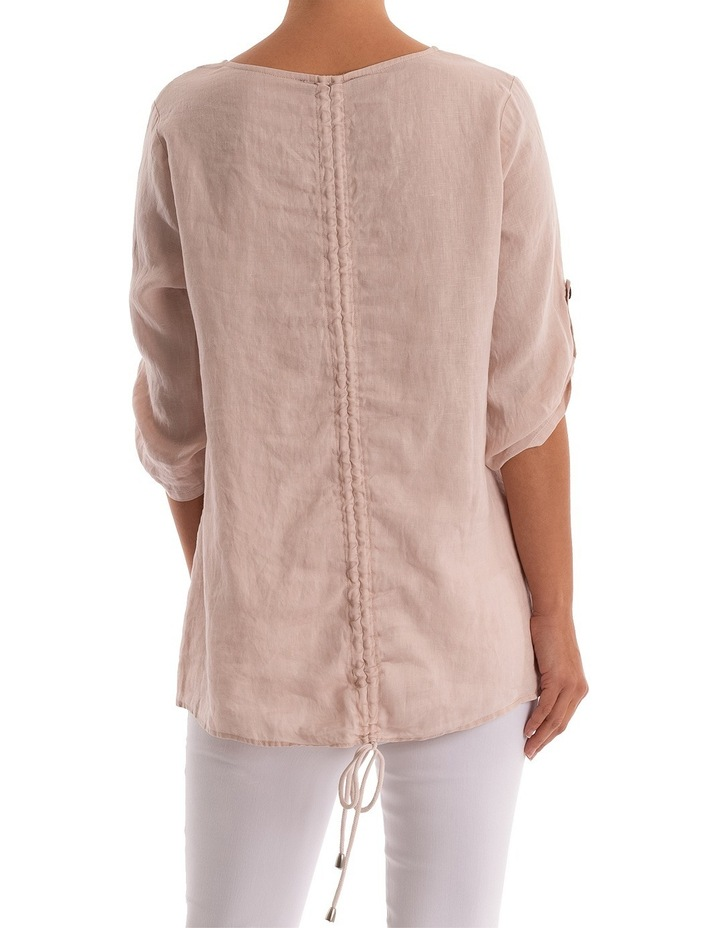 Rouched Back Linen Top image 3