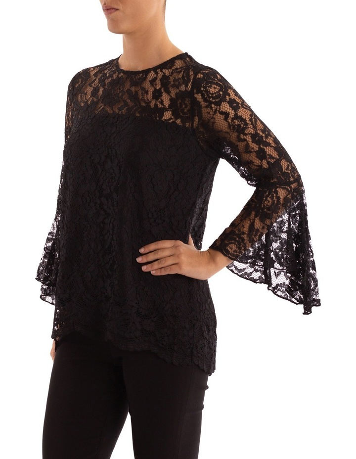 Bell Sleeve Lace Top image 2