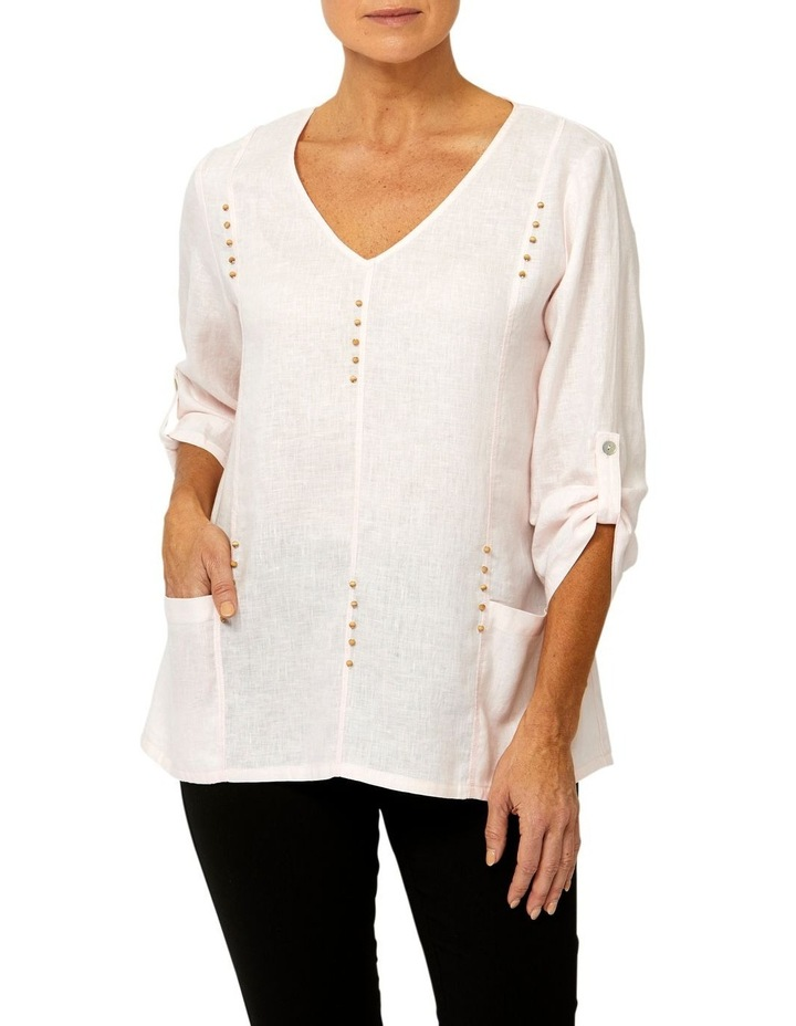Panelled Linen Top image 1