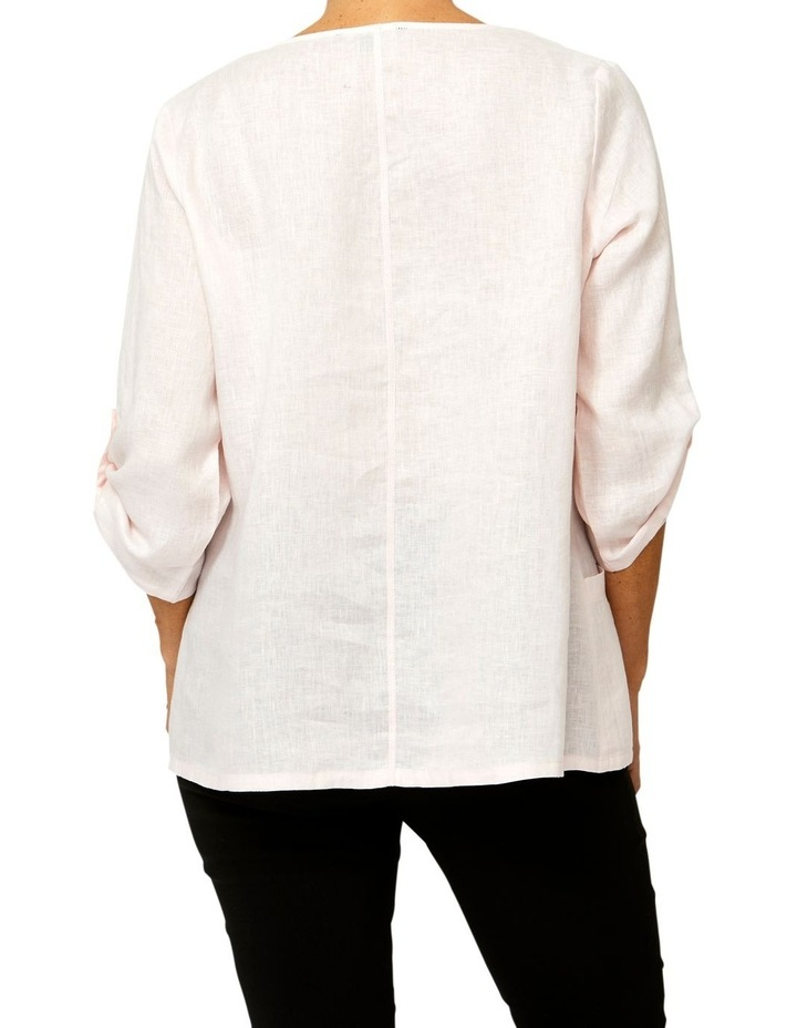 Panelled Linen Top image 3