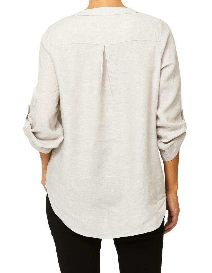 Lace Up Linen Top image 3