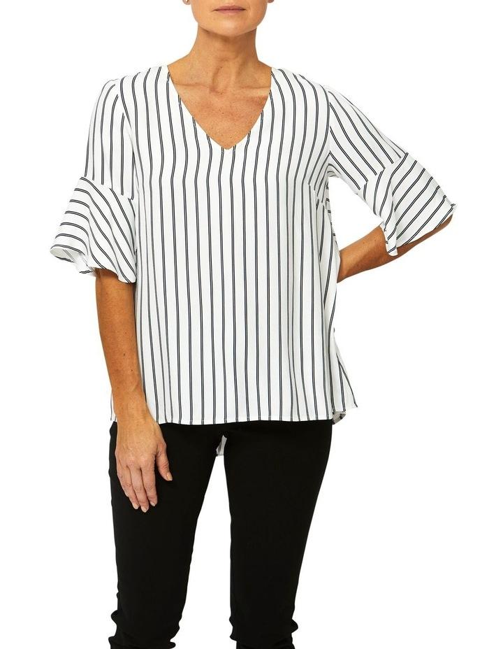 Bell Sleeve Stripe Top image 1