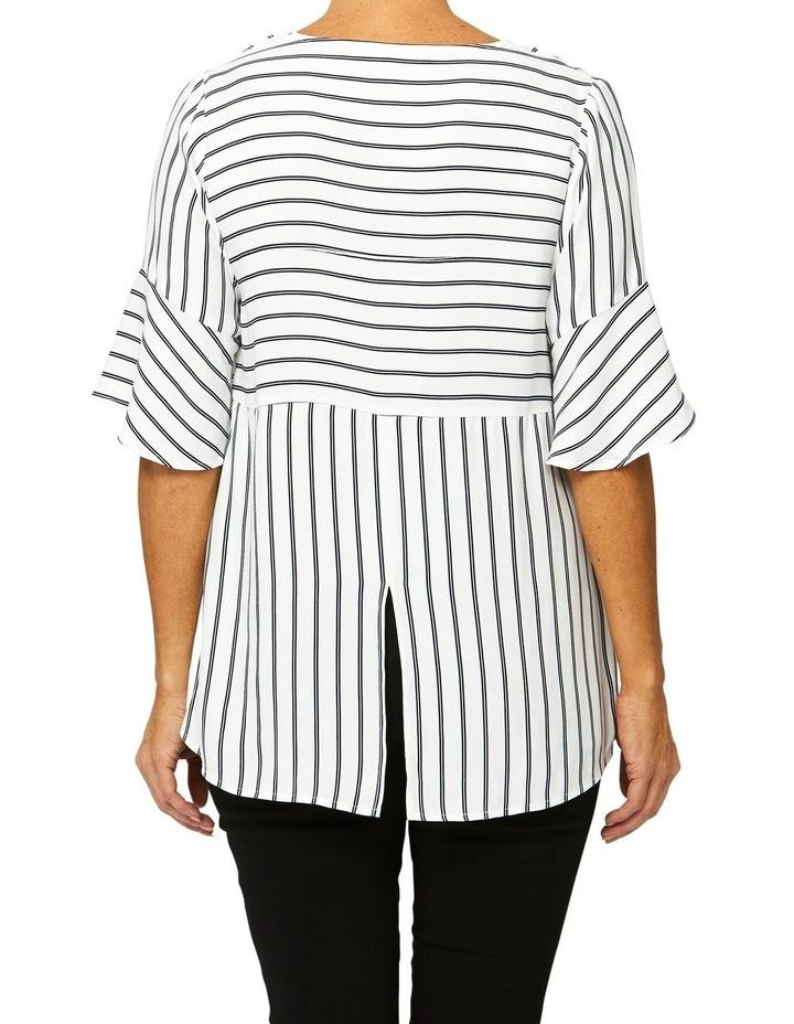 Bell Sleeve Stripe Top image 3