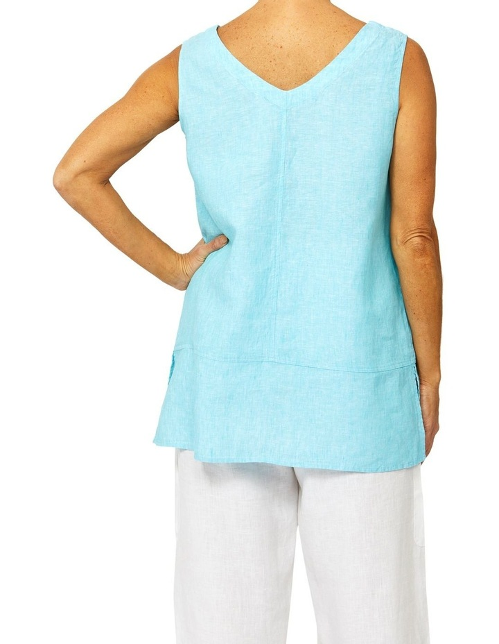 Sleeveless Button Front Linen Top image 3