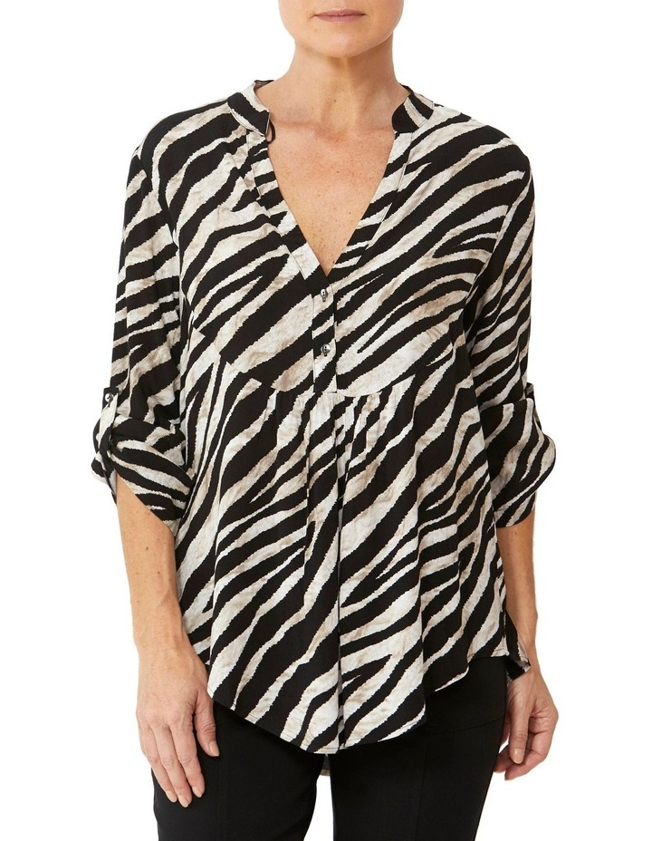 Abstract Zebra Print Blouse image 1