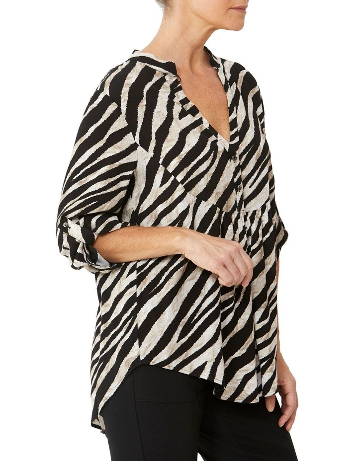 Abstract Zebra Print Blouse image 2