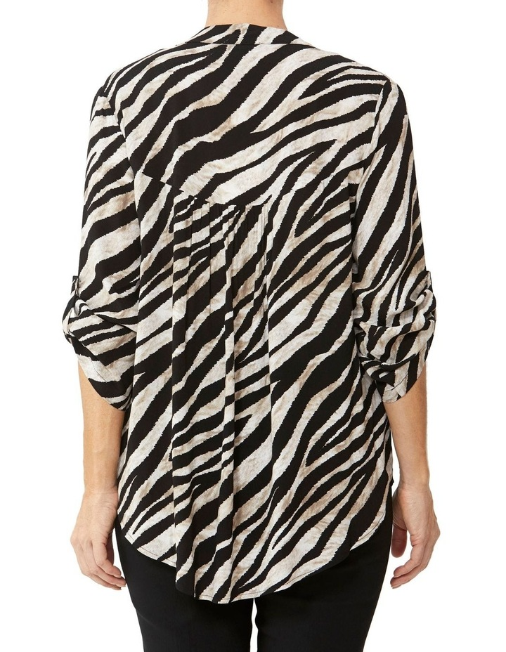 Abstract Zebra Print Blouse image 3