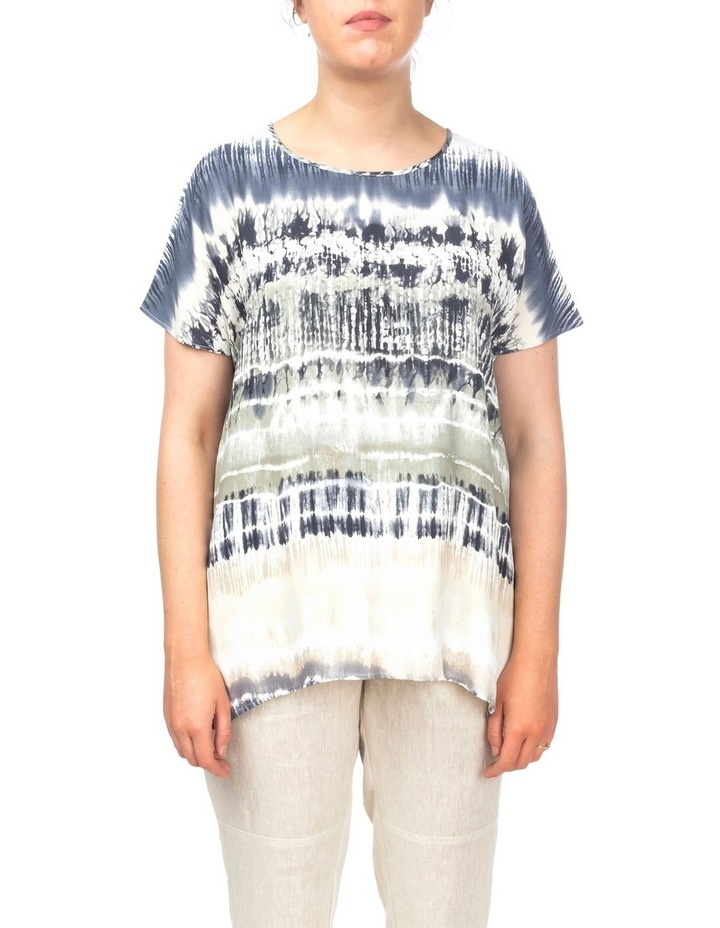 Drop Shoulder Tie Dye Print Top image 1