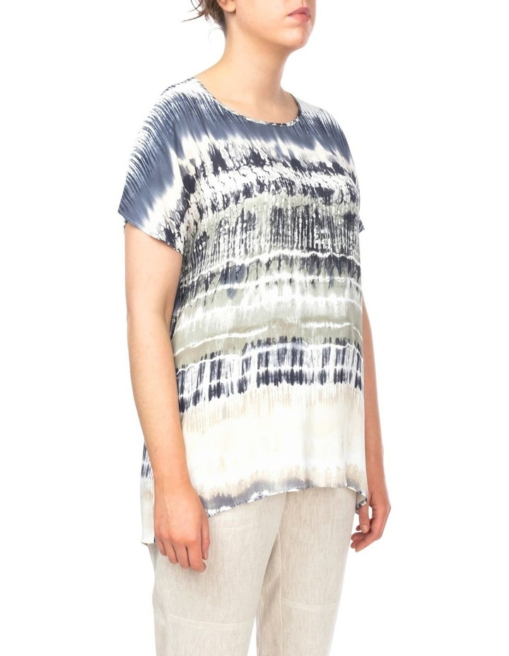 Drop Shoulder Tie Dye Print Top image 2