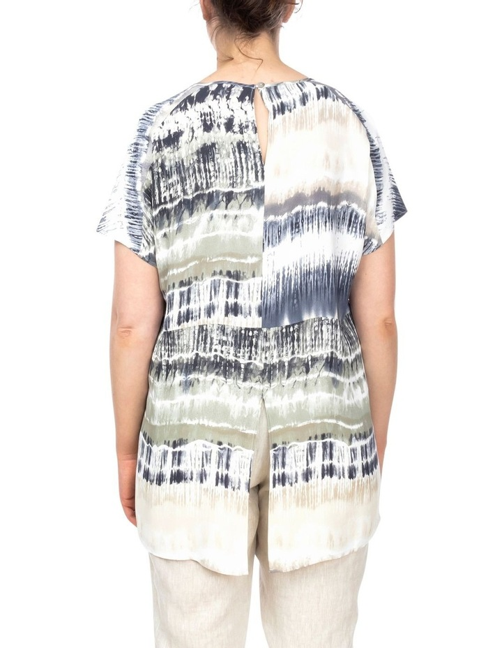 Drop Shoulder Tie Dye Print Top image 3