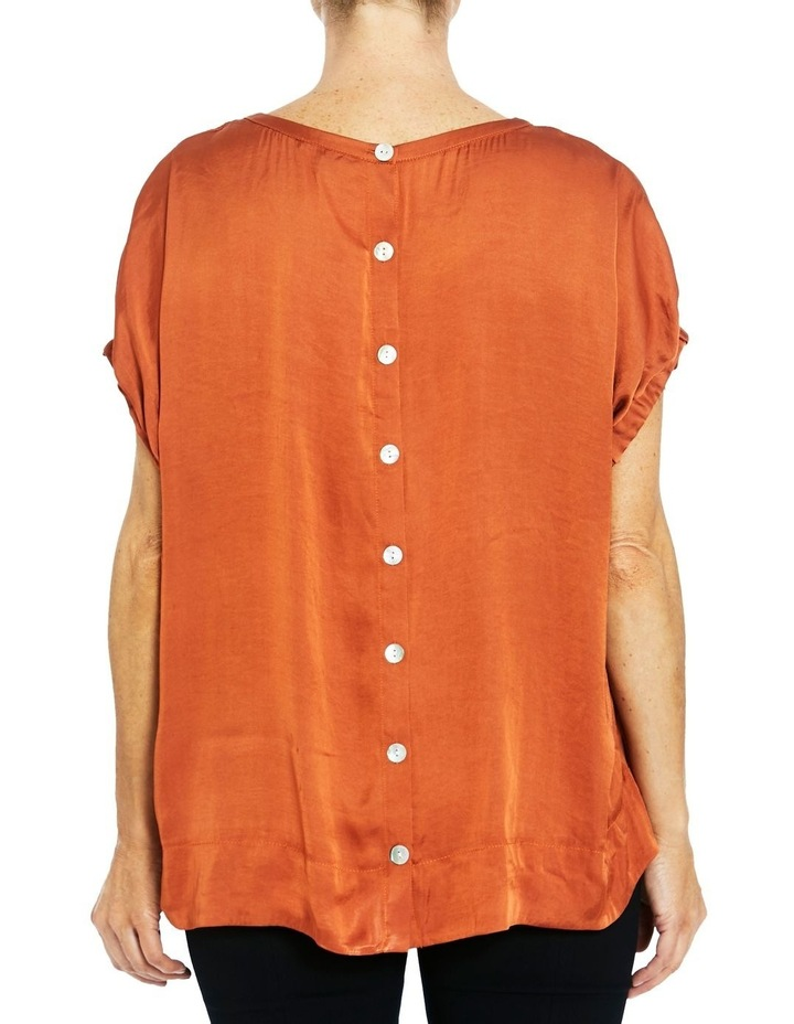 Short Sleeve Button Back Top image 3