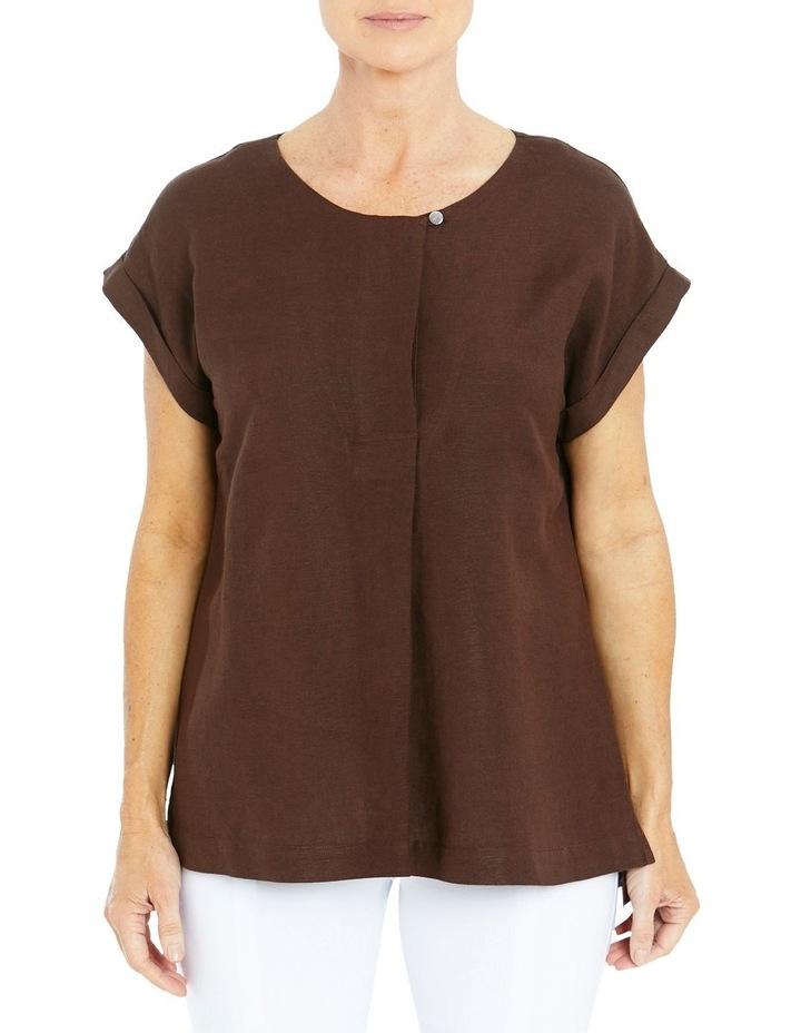 Drop Shoulder Linen Top image 1
