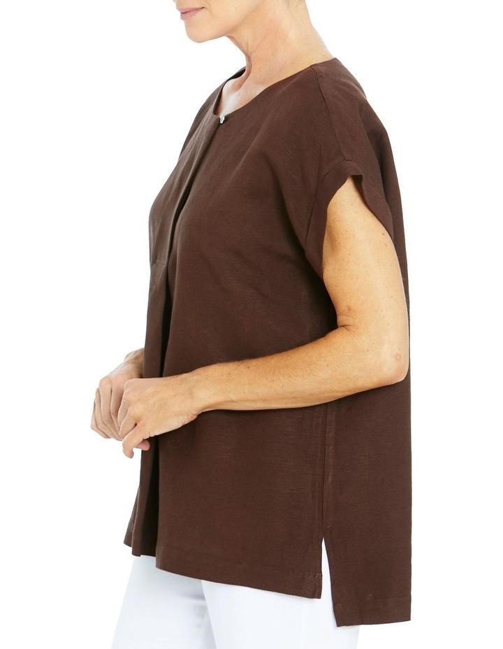 Drop Shoulder Linen Top image 3