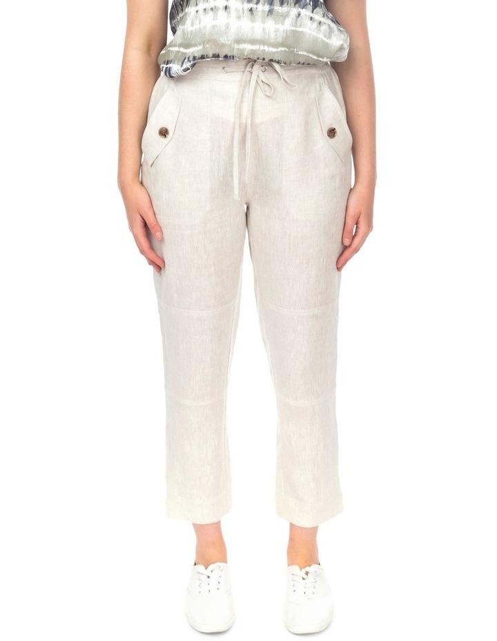 7/8 Striaght Linen Pant image 1