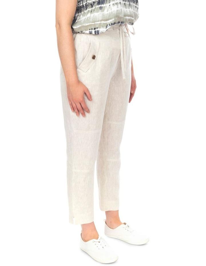 7/8 Striaght Linen Pant image 2