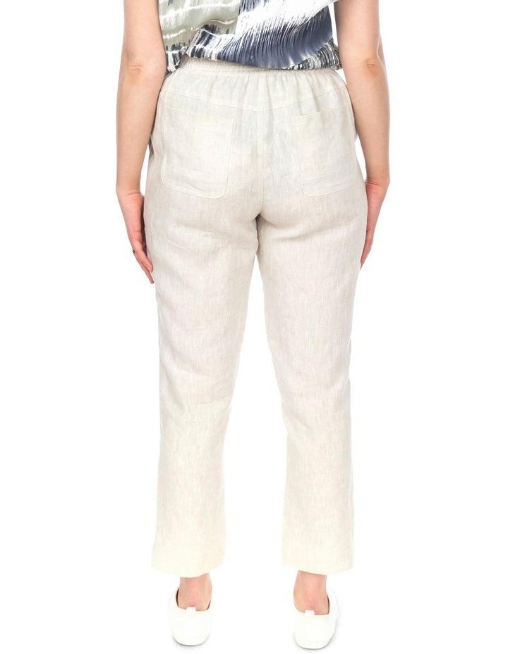 7/8 Striaght Linen Pant image 3