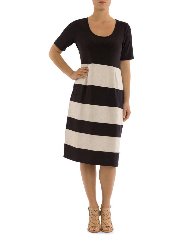 Short Sleeve Spliced Dress image 1