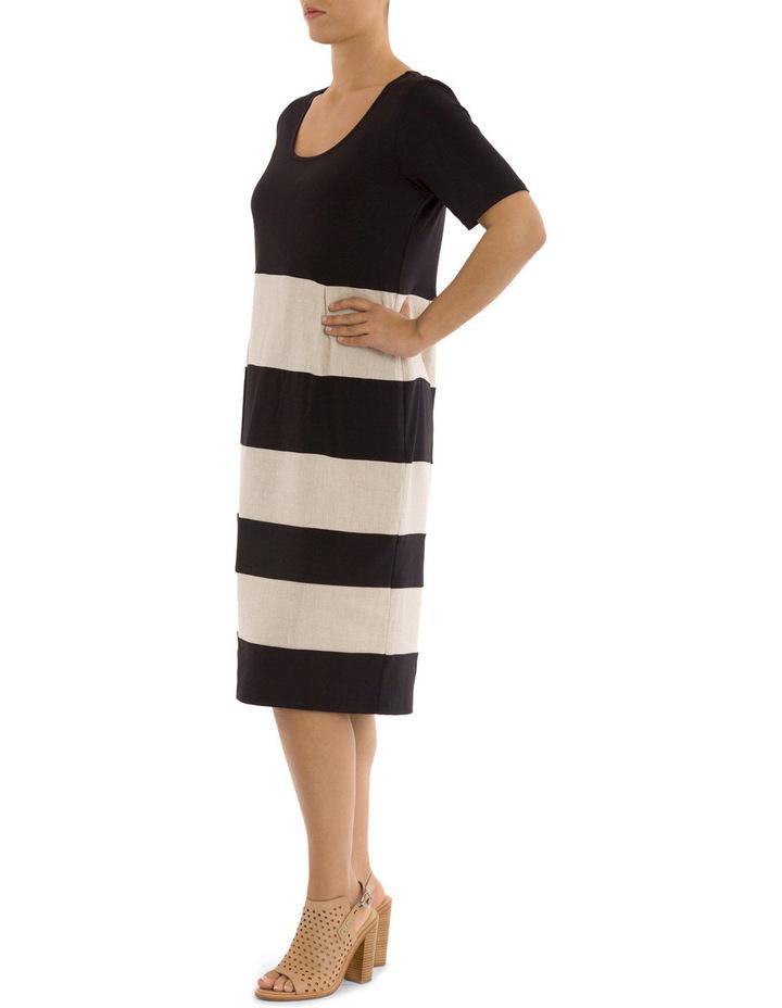 Short Sleeve Spliced Dress image 2