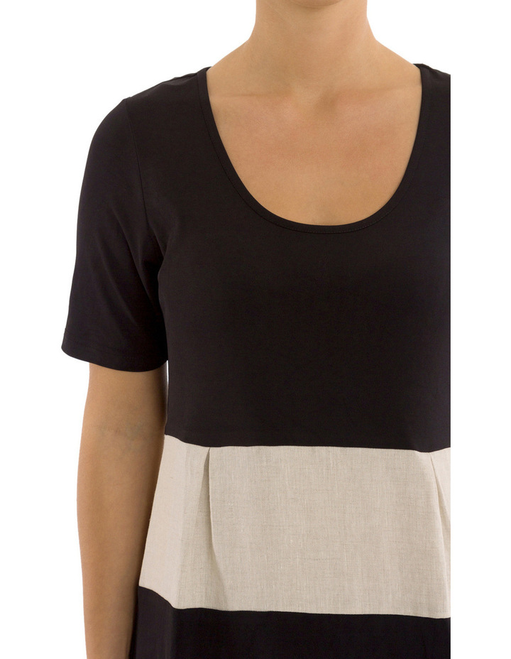 Short Sleeve Spliced Dress image 4