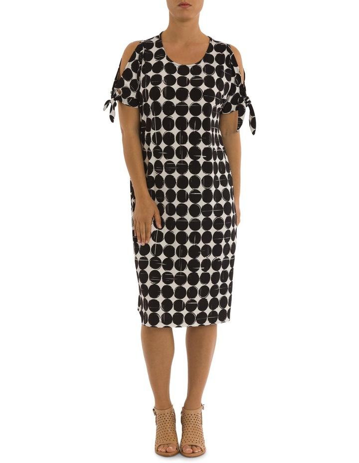 Cut Out Shoulder Print Dress image 1