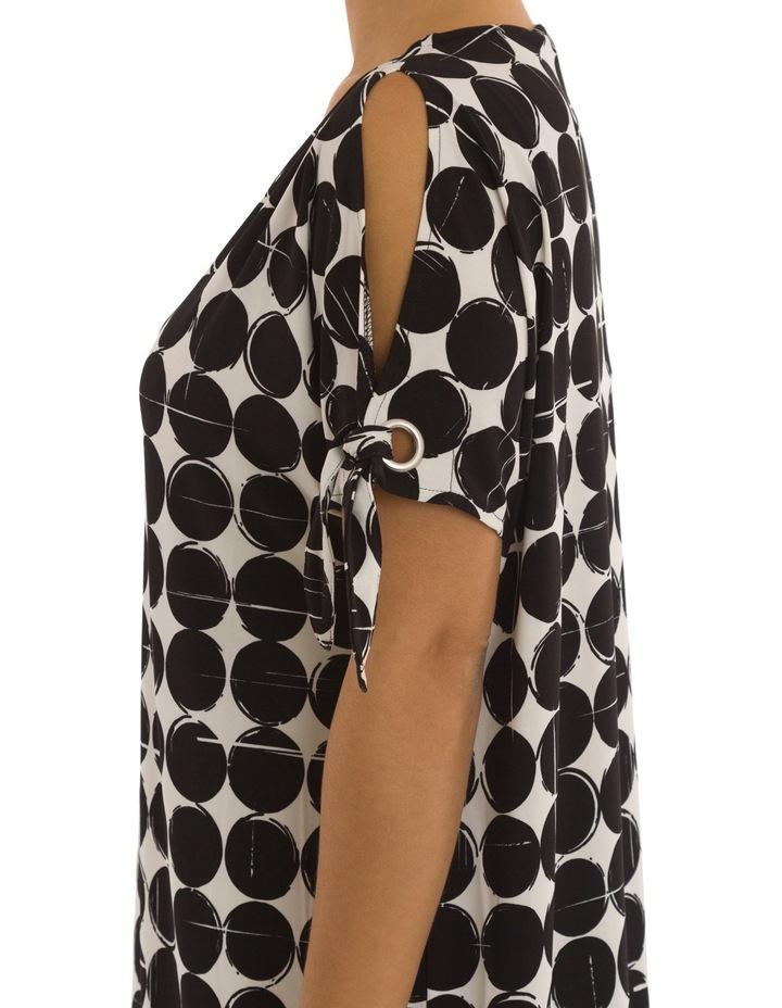 Cut Out Shoulder Print Dress image 4