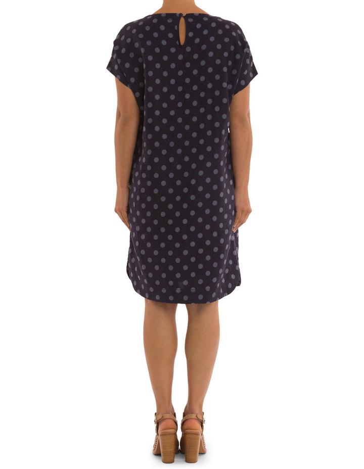 Linen Spot Print Dress image 3