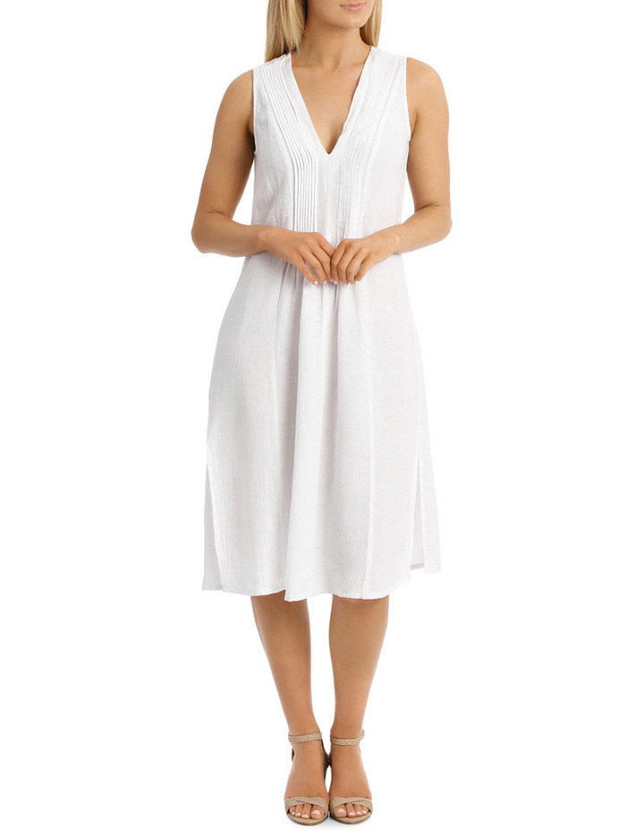 Sleeveless Crinkle Beach Dress image 1