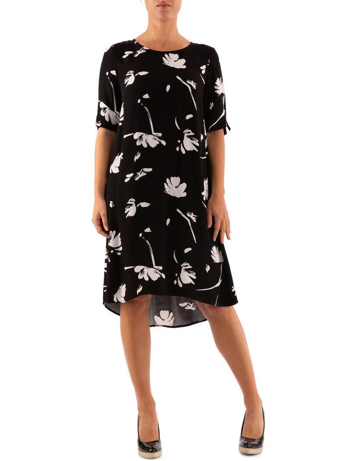 Monochrome Floral Dress image 1