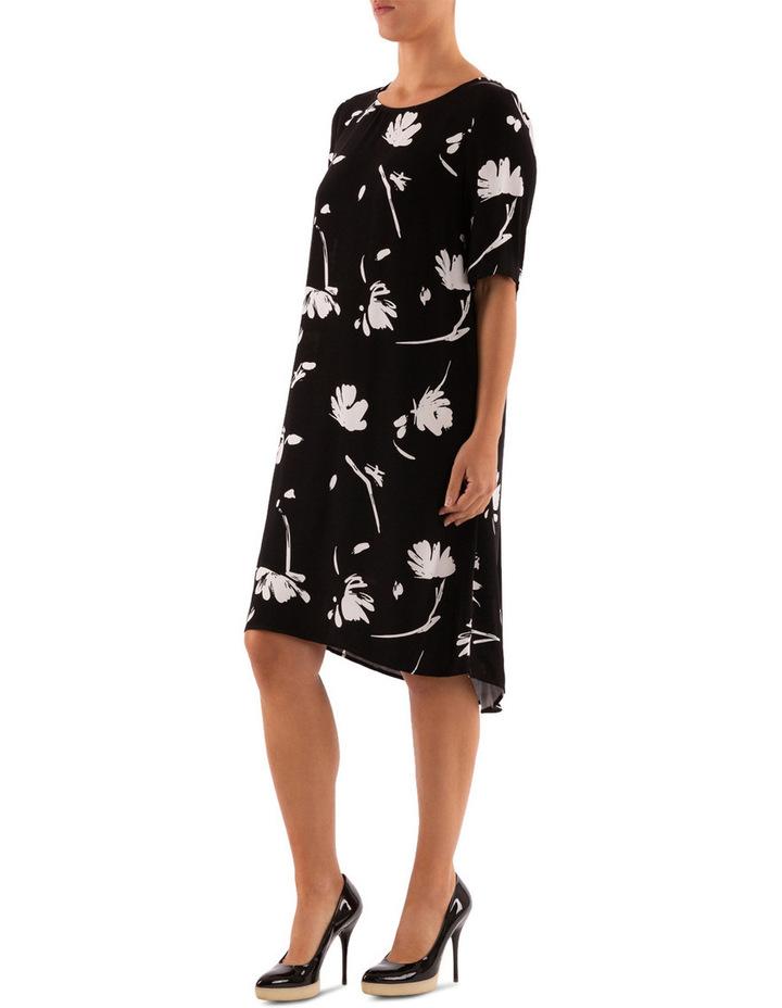 Monochrome Floral Dress image 2