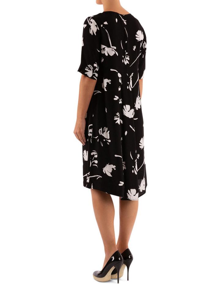 Monochrome Floral Dress image 3