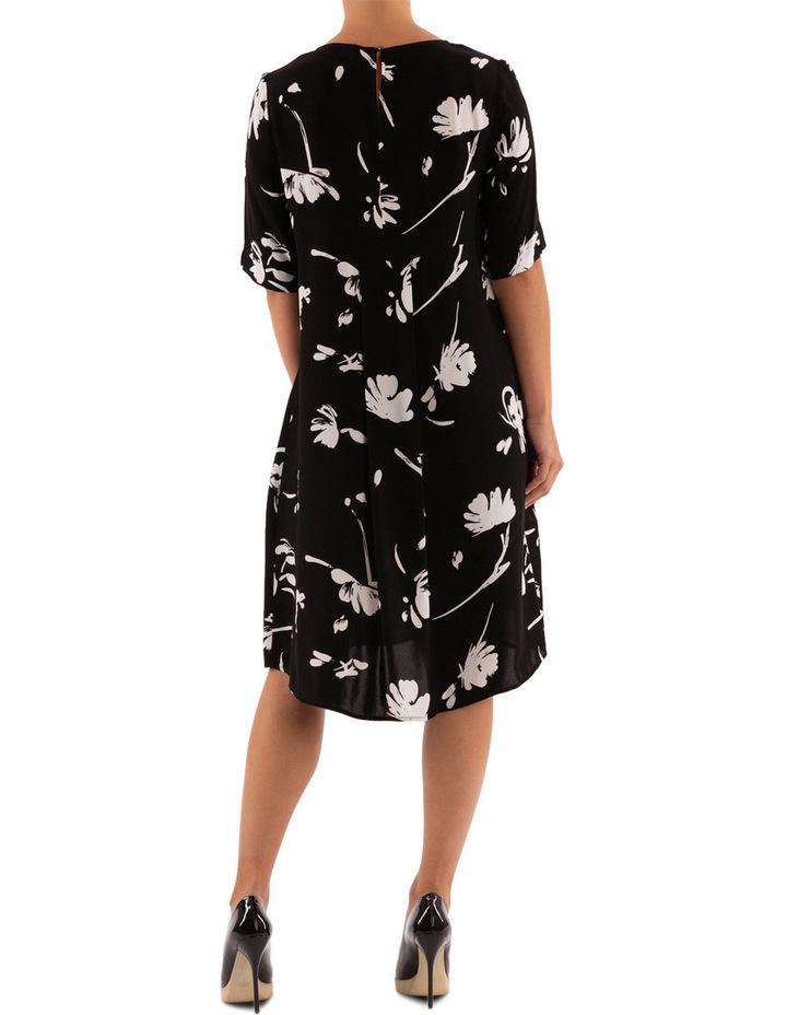 Monochrome Floral Dress image 4