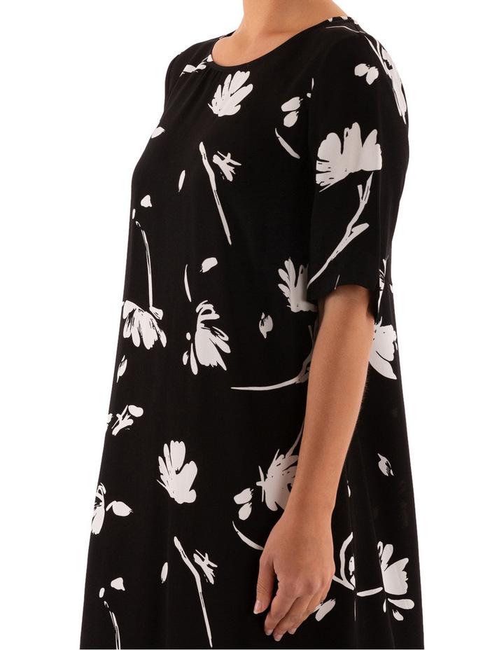 Monochrome Floral Dress image 5