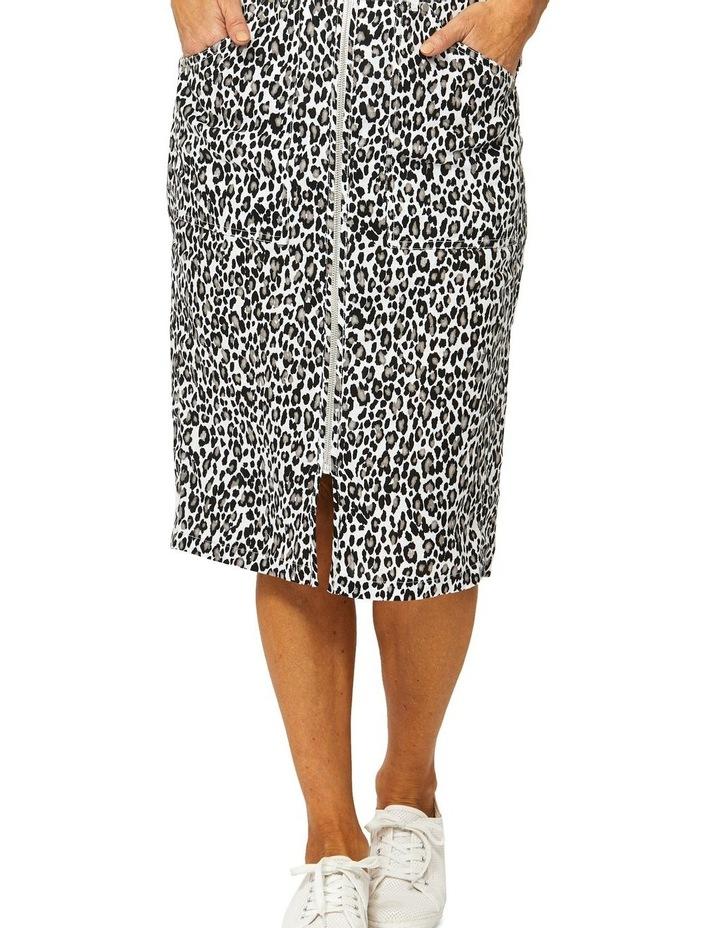 Sahara Print Linen Skirt image 1