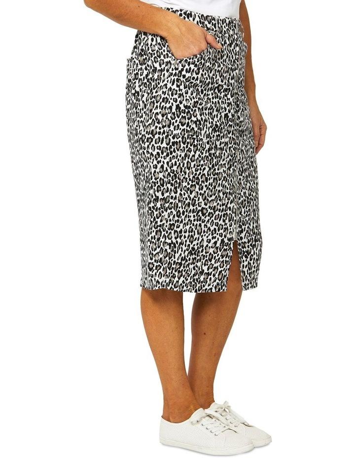 Sahara Print Linen Skirt image 2