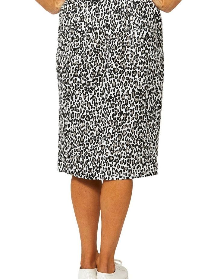Sahara Print Linen Skirt image 3