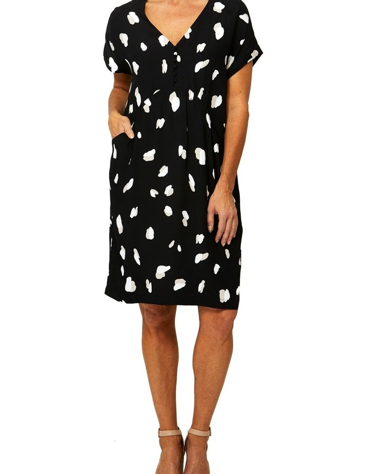 Drop Shoulder Mono Print Dress image 1
